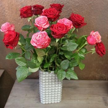 XXL Red & Pink Rosenstrauß