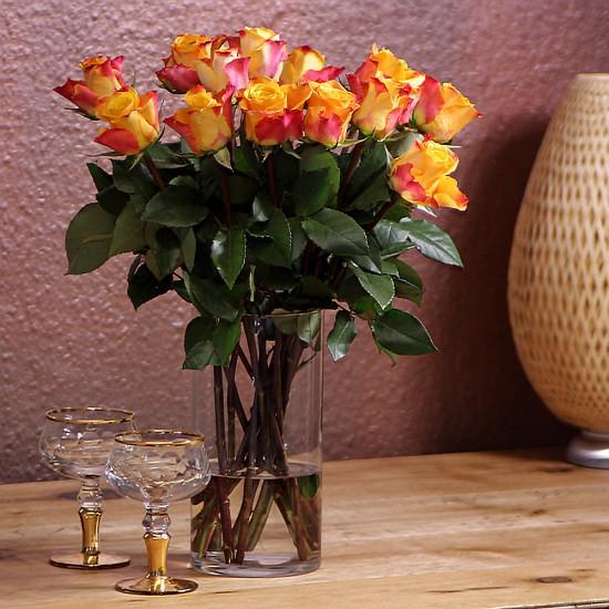 Oranger Rosenstrauß ca.50 cm Länge
